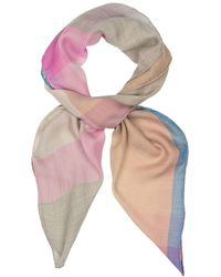 Begg & Co Wispy Checked Cashmere Scarf - Multicolor