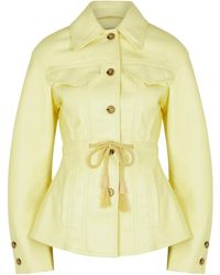 Nanushka - Tobias Yellow Regenerated Leather Overshirt - Lyst