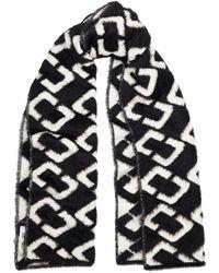 Diane von Furstenberg Afsana Black And White Knitted Scarf