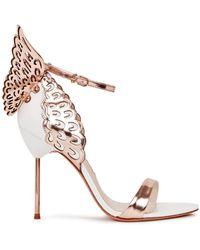 Sophia Webster Evangeline Winged Leather Sandals - Size 5 - White