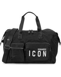 DSquared² Icon Black Nylon Holdall