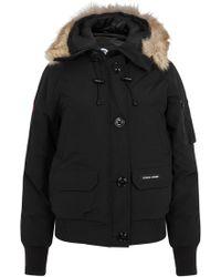 Canada Goose Chilliwack Black Fur-trimmed Jacket