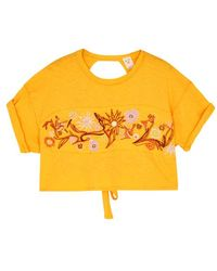 Free People | Garden Time Cropped Cotton T-shirt | Lyst