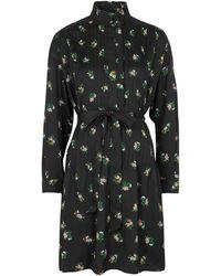 Tory Burch Daybreak Floral-print Mini Dress - Black