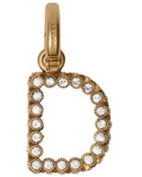 Burberry Crystal 'd' Alphabet Charm - Metallic