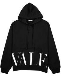 Valentino Black Logo Cotton-blend Sweatshirt