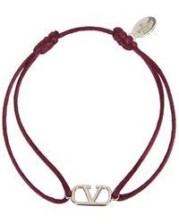 Valentino Garavani Vlogo Cord Bracelet - Red