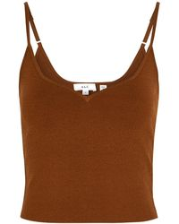 A.L.C. Shana Brown Stretch-knit Top