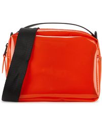 Rains Red Transparent Cross-body Bag