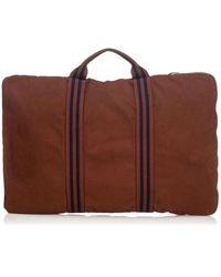 Hermès Brown Travel Bag - Blue