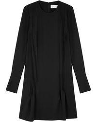 Victoria, Victoria Beckham - Black Pleated Crepe Dress - Lyst