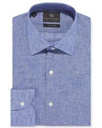 Chester Barrie - Blue Delave Linen Shirt - Lyst