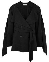 Palmer//Harding - Portrait Black Twill Jacket - Lyst