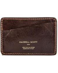 Maxwell Scott Bags Choc Men's Purse Wallet In Brown