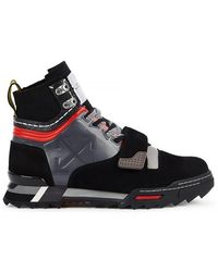 Off-White c/o Virgil Abloh - Rubber-trimmed Suede And Mesh Hiking Sneakers - Lyst
