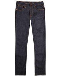 Nudie Jeans - Lean Dean Indigo Slim-leg Jeans - Size W36/l32 - Lyst