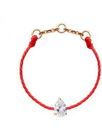 RedLine 18ct Rose Gold Altesse Pear Thread Ring (red)