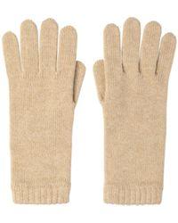 Johnstons Womens Cashmere Gloves - Natural