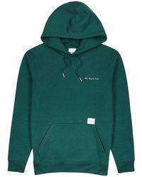 MKI Miyuki-Zoku Green Hooded Cotton-blend Sweatshirt