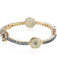 Nadine Aysoy Celeste Aquamarine And Jade Bracelet - Metallic