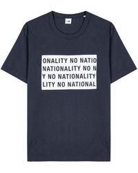 NN07 Baker Navy Logo-appliquéd Cotton T-shirt - Blue