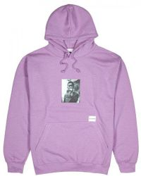 MKI Miyuki-Zoku - Lilac Hooded Cotton Blend Sweatshirt - Lyst