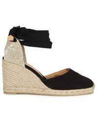 Castaner - Carina Black Canvas Espadrille Court Shoes - Lyst