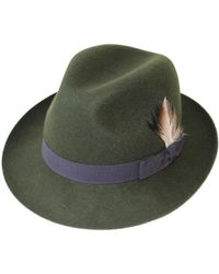 Christys' - Barbican Fedora Hat - Lyst