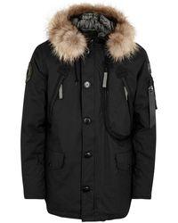 Alpha Industries - Polar Black Fur-trimmed Parka - Lyst