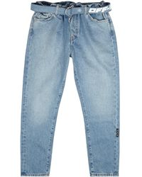 Off-White c/o Virgil Abloh Blue Tapered-leg Jeans