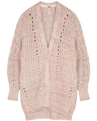 Free People Smoothie Chunky-knit Cardigan - Pink