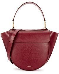 Wandler Hortensia Medium Leather Top Handle Bag - Red