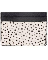 Esin Akan Grace Cheetah Print Leather Card Case - Multicolour