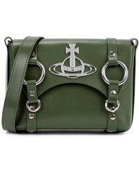 Vivienne Westwood Betty Mini Green Leather Satchel