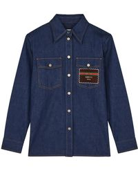 Gucci Blue Denim Shirt