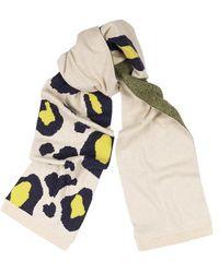 Duffy Leopard-intarsia Cashmere Scarf - Multicolor