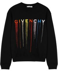 Givenchy Black Logo-embroidered Cotton Sweatshirt