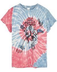 MadeWorn Grateful Dead Tie-dyed Cotton T-shirt - Red