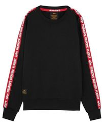 Alpha Industries - Black Cotton-blend Sweatshirt - Lyst
