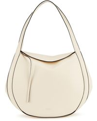 Wandler Lin Ivory Leather Top Handle Bag - White
