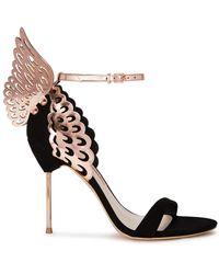 Sophia Webster Evangeline 100 Winged Suede Court Shoes - Black