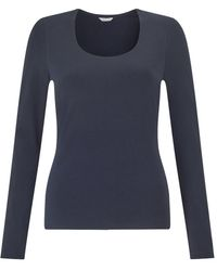 Jigsaw Double Front Scoop Tee - Blue