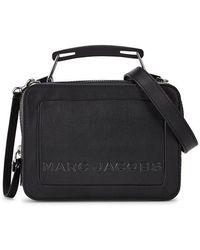 Marc Jacobs - The Mini Black Leather Box Bag - Lyst