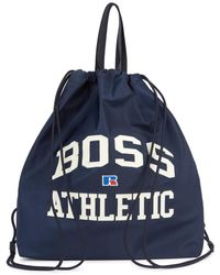 BOSS by HUGO BOSS X Russell Athletic Navy Nylon Tote - Blue