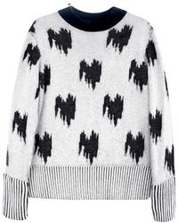 Jamie Wei Huang - Jacquard Cashmere Jumper Grey - Lyst