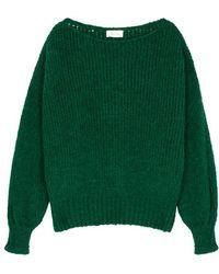 American Vintage - Boolder Green Chunky-knit Jumper - Lyst
