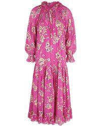 Free People Feeling Groovy Floral-print Chiffon Maxi Dress - Pink