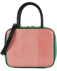 Michino Paris - Squarit Pm Watersnake Box Bag - Lyst