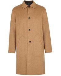 Rag & Bone Brent Camel Reversible Wool-blend Coat - Natural