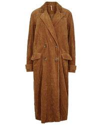 Free People - Abbey Road Brown Corduroy Coat - Lyst